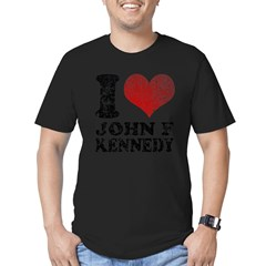 I love John F Kennedy Men's Fitted T-Shirt (dark)