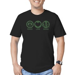 Peace Love Hiking Men's Fitted T-Shirt (dark)