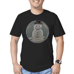 Snowman Men's Fitted T-Shirt (dark)