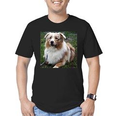 Red Merle Aussie Men's Fitted T-Shirt (dark)