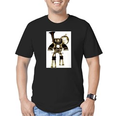 musicrobot_color.jpg Men's Fitted T-Shirt (dark)