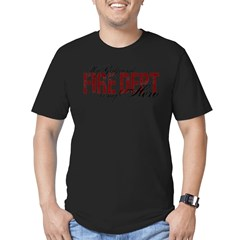 My Girlfriend My Hero - Fire Dept Men's Fitted T-Shirt (dark)