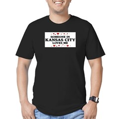 Loves Me in Kansas City Men's Fitted T-Shirt (dark)