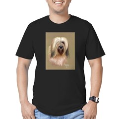Tibetan Terrier Men's Fitted T-Shirt (dark)