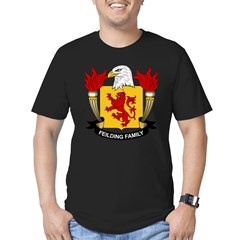 Feilding Family Crest Men's Fitted T-Shirt (dark)