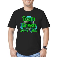 Team Green 24/7 365 Men's Fitted T-Shirt (dark)