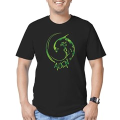 The Alien Men's Fitted T-Shirt (dark)