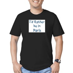 Rather be in Paris Men's Fitted T-Shirt (dark)