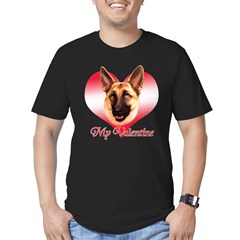 Tan Shep Valentine Men's Fitted T-Shirt (dark)