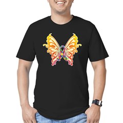 Autism Butterfly Ribbon Men's Fitted T-Shirt (dark)