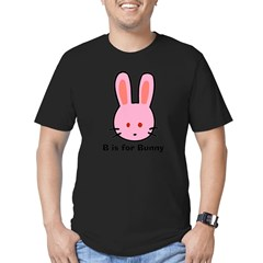 B is for Bunny Men's Fitted T-Shirt (dark)
