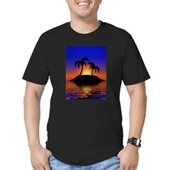 sunrise-sunset--palm-tree-s.jpg Men's Fitted T-Shirt (dark)