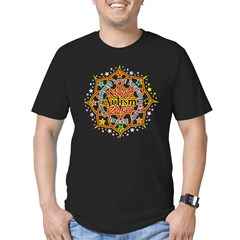 Autism Lotus Men's Fitted T-Shirt (dark)