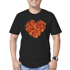 Bacon Heart - Men's Fitted T-Shirt (dark)