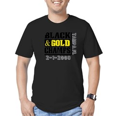 Black and Gold Champs Men's Fitted T-Shirt (dark)