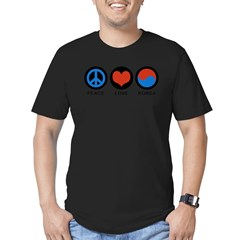 Peace Love Korea Men's Fitted T-Shirt (dark)