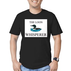 The Loon Whisperer Men's Fitted T-Shirt (dark)