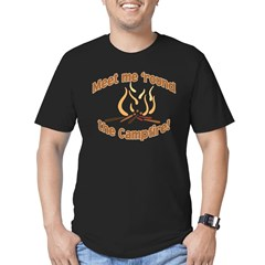 MEET ME 'ROUND THE CAMPFIRE! Men's Fitted T-Shirt (dark)