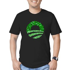 Obama Irish St. Patrick's Day Men's Fitted T-Shirt (dark)