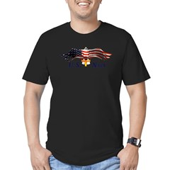 Navy Cross Men's Fitted T-Shirt (dark)