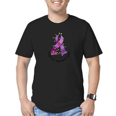 Flower Ribbon LUPUS Men's Fitted T-Shirt (dark)