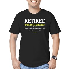 Retired Teacher Black Men's Fitted T-Shirt (dark)