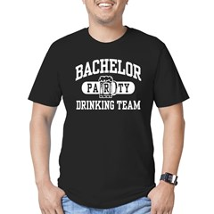Bachelor Party Drinking Team Men's Fitted T-Shirt (dark)