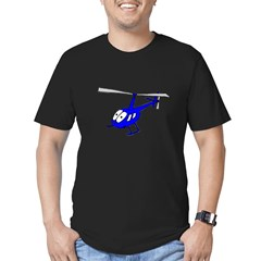 R22 Blue Men's Fitted T-Shirt (dark)