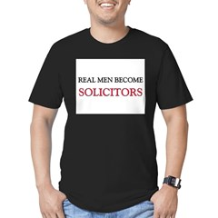 Real Men Become Solicitors Men's Fitted T-Shirt (dark)