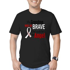 Angel 1 GRANDMA Lung Cancer Men's Fitted T-Shirt (dark)