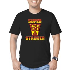 Super Stacker 1 Men's Fitted T-Shirt (dark)