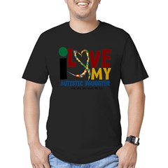 I Love My Autistic Daughter 2 Men's Fitted T-Shirt (dark)