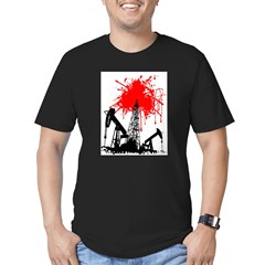 Oil of blood Men's Fitted T-Shirt (dark)