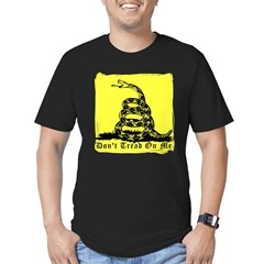 Don't Tread On Me Gadsden Men's Fitted T-Shirt (dark)