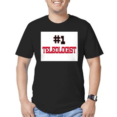 Number 1 TELEPHONE OPERATOR Men's Fitted T-Shirt (dark)