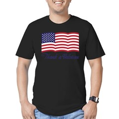 Thank A Veteran Men's Fitted T-Shirt (dark)