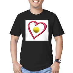 Love Tennis Men's Fitted T-Shirt (dark)