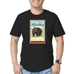 Travel Alaska Men's Fitted T-Shirt (dark)