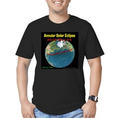 2012 Annular Solar Eclipse Men's Fitted T-Shirt (dark)