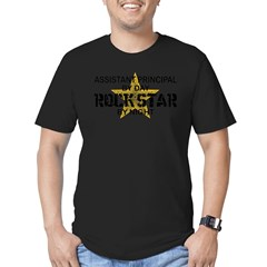 Asst Principal RockStar by Nigh Men's Fitted T-Shirt (dark)