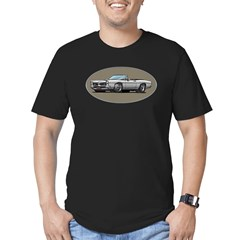 66-67 White / Silver GTO Convertible Men's Fitted T-Shirt (dark)