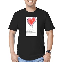Love Deeply Men's Fitted T-Shirt (dark)