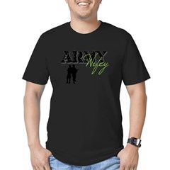 Designs of an Army Wifey Men's Fitted T-Shirt (dark)