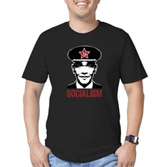 Obama Socialism Men's Fitted T-Shirt (dark)