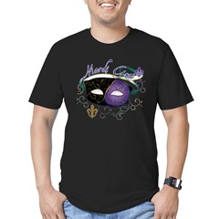 Mardi Gras 2 Men's Fitted T-Shirt (dark)