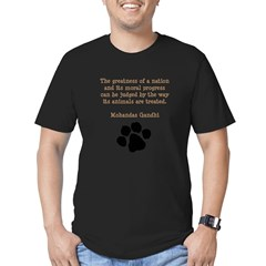Gandhi Animal Quote Men's Fitted T-Shirt (dark)