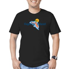 Captiva Island FL - Map Design Men's Fitted T-Shirt (dark)