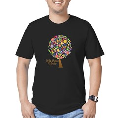 let-love-grow Men's Fitted T-Shirt (dark)
