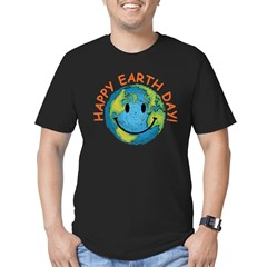Happy Earth Day Men's Fitted T-Shirt (dark)