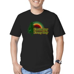 Earth Day Every Day Retro Men's Fitted T-Shirt (dark)